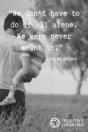We're so obsessed with Brené Brown quotes! #inspirationalquotes #positivelegacies #brenébrown #love #relatable #accepthelp #wellbeingcardsformums